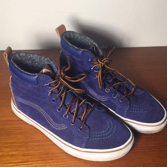 Vans Other - Vans MTE Blue High top Sneakers Suede Kids 6